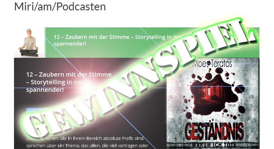 Podcast zum Thema Stimme, Storytelling, Sprachzauberei – Gewinnspiel