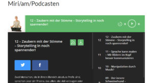 miri/am/podcasten - thema Stimme, Storytelling