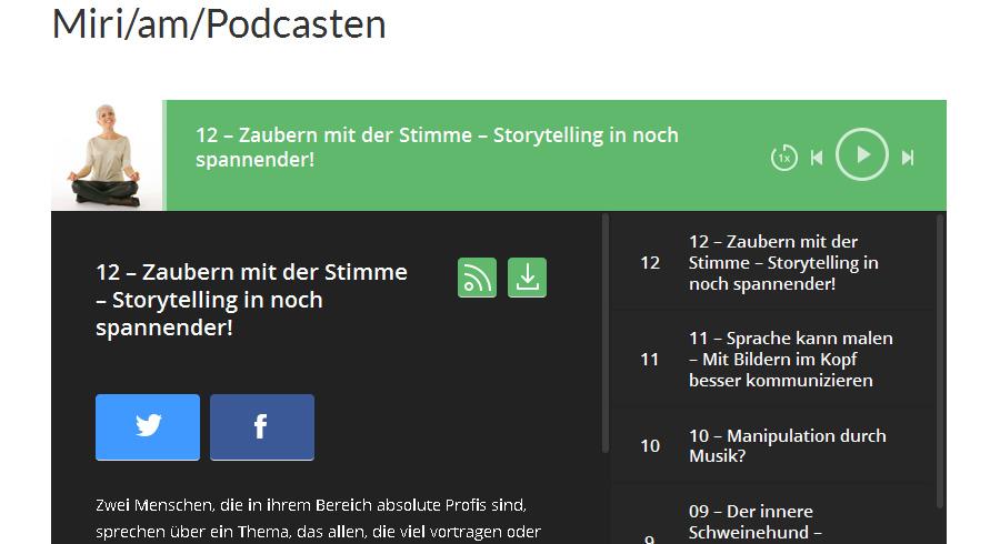 Podcast zum Thema Stimme, Storytelling, Sprachzauberei – Zwei Vollprofis im Talk