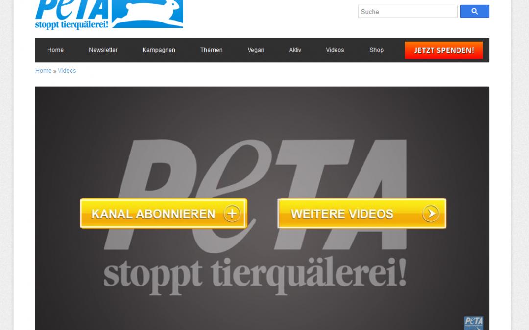 Neuer Clip für PETA | Tiere in der Filmindustrie