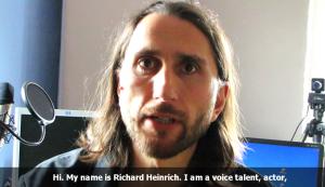 Profi-Sprecher Richard Heinrich stellt sich vor